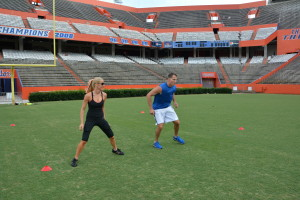 Fitzness Football 4 square drill